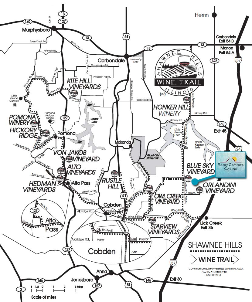 Shawnee Hills Wine Trail Map