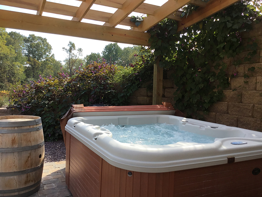 Private Hot Tub at The Hollow Vacation Rental